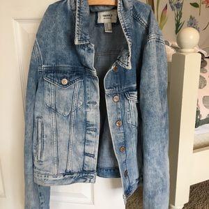 forever 21 light wash jean jacket